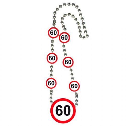 Traffic Sign 60th Party Necklace Birthday Gift Favour Jewellery Favor